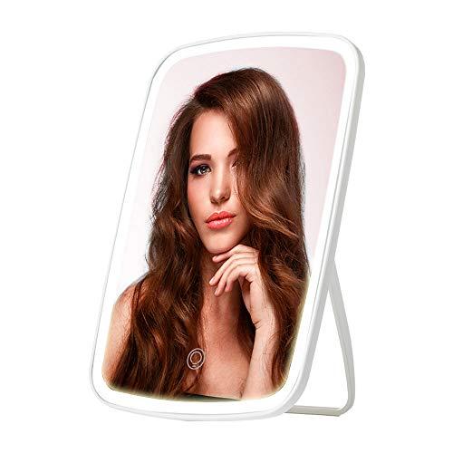CouHaP Beleuchtung Kosmetikspiegel Touchscreen LED faltbar Make up Spiegel Faltbarer Standspiegel Tischspiegel dimmbar 130 Grad einstellbar für Home Beauty