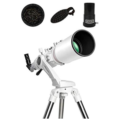 ZHANGYH Telescopio digital de astronomía telescopio de 102 mm de espacio para niños refractor principiantes, monoculares cielo, regalo para niños