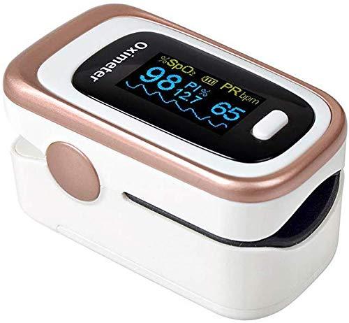 AMITD - Pulsiossimetro da Dito, Portatile, Approvato dalla FDA, sensore Digitale di Ossigeno nel Sangue e pulsazioni, con Allarme SPO2, per Uso Domestico, Fitness e Sport estrem