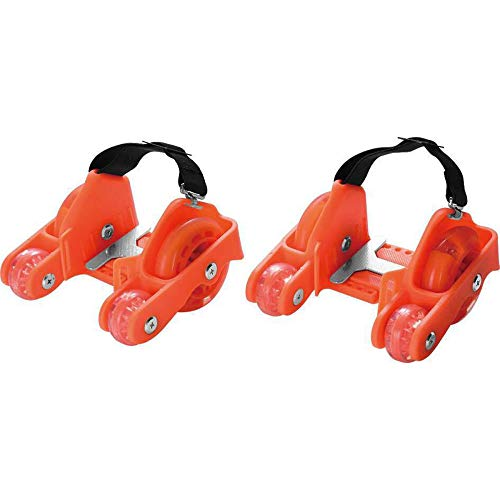 BGHKFF Fersenroller LED Street Gliders Rollen Schuhe Kinder Mädchen Jungen LED Schuhe 80kg Schwarz,Orange