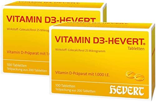 Sparset Vitamin D3 Hevert 2 x 200 Tabletten