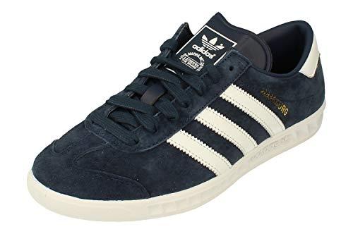 adidas Originals Hamburg Uomo Trainers Sneakers (UK 10.5 US 11 EU 45 1/3, Navy White Gold S74838)