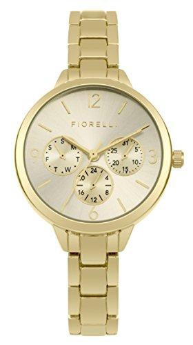 Fiorelli Damen Datum klassisch Quarz Uhr mit Edelstahl Armband SFO001GM