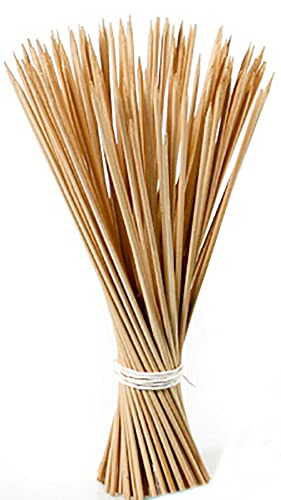 Novatool 200x Splittstäbe 40 cm x 4 mm I Natur I Rankhilfe Tomaten Stangen Bambus Pflanzstäbe Holz stäbe für orchideen Pflanzenstock Blumenstangen