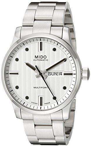 Mido Men's MIDO-M0054301103100 Multifort Analog Display Swiss Automatic Silver Watch