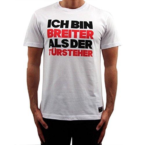 Banger Musik Majoe T-Shirt Breiter als der Türsteher Weiss (S)