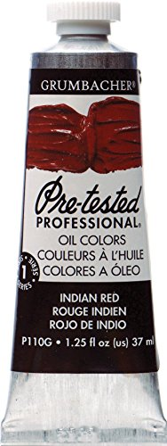 Grumbacher Pre-Tested Oil Paint, 37ml/1.25 Ounce, Indian Red (P110G)
