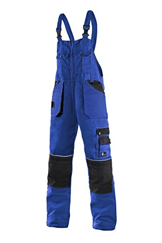 CXS Krystof Herren Arbeitslatzhose mit Kniepolstertaschen - Sehr Stabile Strapazierfähige Arbeitshose mit Hosenträger Gartenhose Bundhose Cargohose Arbeitsoveral