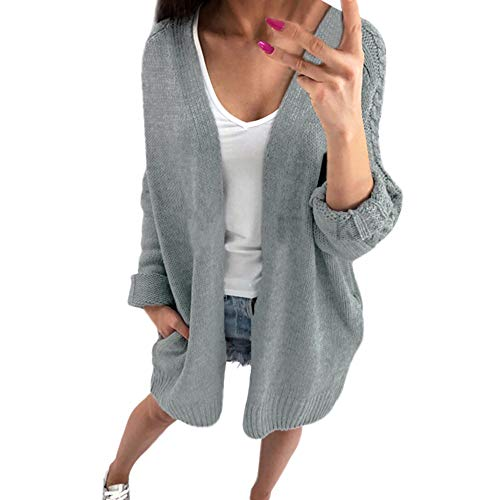 Longra dames mode winter lange mouwen solide gebreide trui blouse tops chic blouse cardigan maxi blouse losse sweater warm casual tops cardigan