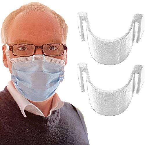 2 pinzas nasales transparentes antivaho para mascarilla - Evita el empañamiento - Reciclable - Totalmente biodegradable - Banda para el puente nasal (2)