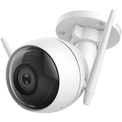 HDHUIXS Cámara de Seguridad al Aire Libre WiFi 1080p, Impermeable, visión de 30 m de Noche, detección de Movimiento, visión remota