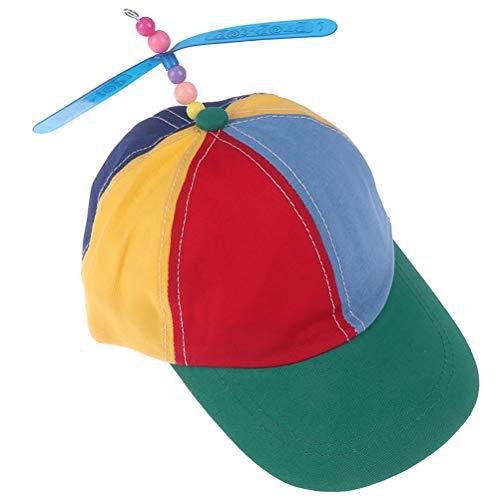 NIHAOYA 1 x Helikopter-Propeller-Baseballkappe, bunt, Patchwork-Hut, Sonnenhut für Cosplay, Zubehör, Spaß für Paraden, Kostüm, Veranstaltungen, Halloween und mehr.
