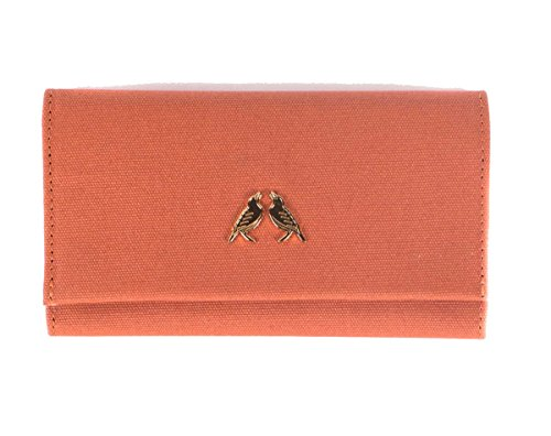 Starling & Ivy Sienna Vegan Waxed Canvas Ladies Trifold Wallet