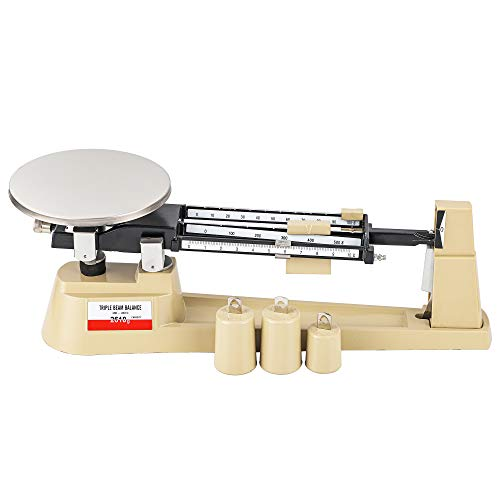 Triple Beam Scale Bonvoisin Lab Mechanical Balance 2610g/0.1g with Stainless Steel Weighing Platter (Triple Beam Scale)