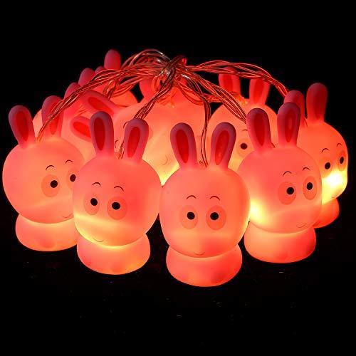 Herefun Ostern Lichter 1.65M 10 LEDs Ostern Lichter Osterhase Oster Lichterkette Ostereier Hase String Licht Für Hochzeit Geburtstagsfeier Ostern Party Dekoration