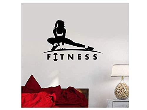 I—Lebensstil Fitness Wandaufkleber Mädchen Gesunder Lebensstil Sport Motivation Frau Wandtattoo Vinyl Fitness Mädchen Gym Sport Home Art Decor 42 * 29 cm