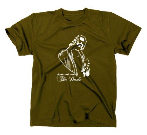 #2 The Big Lebowski The Dude T-Shirt Kult Funshirt Oliv L