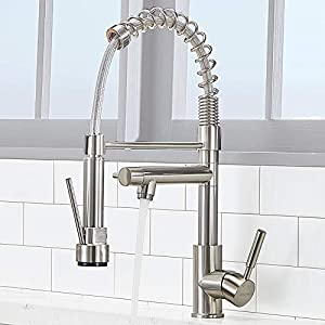 Vc Cucine Solid Brass Single Handle 2 Spouts - Faucet That Look Best With Farmhouse Sink