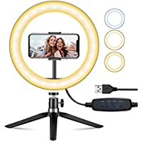 VicTsing 10 Inch LED Selfie Ring Light with Tripod Stand and Phone Holder