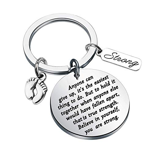 MAOFAED Infertility Gift IVF Keychain Inspirational Gift Infertility Jewelry Miscarriage Gift PTSD Gift Fertility Jewelry Gift for Women
