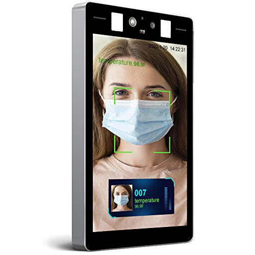 Temperature Face Recognition Body Temperature Kiosk with Detachable Stand Allows for Hands Free Temperature Sreening and Temperature Scanner All-in-One Machine