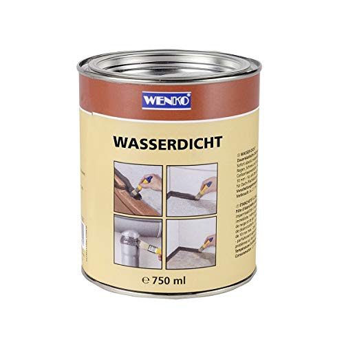 WENKO Wasserdicht Dichtmasse für Außen und Innen, 750 ml, grau