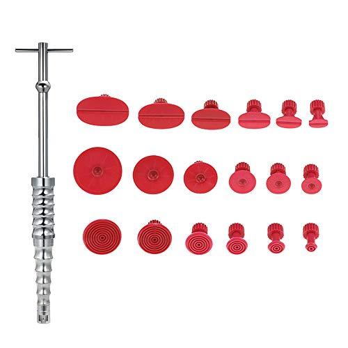 VISLONE Reparaturwerkzeug für Karosserie, lacklos, mit 18 Laschen zum Entfernen von Ausbeulen, Werkzeug (Rot)