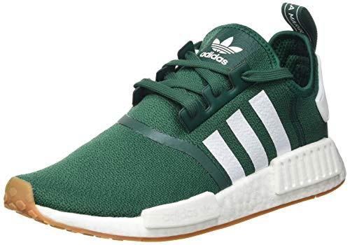 adidas NMD_R1, Sneaker Hombre, Collegiate Green/Footwear White/Gum, 45 1/3 EU