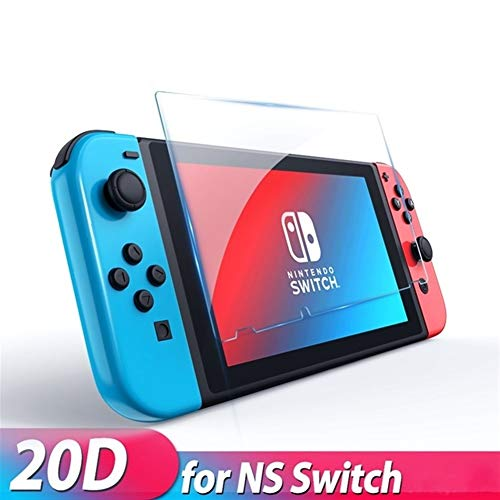 FKYNB Zachte siliconen case for Nintendo Switch, beschermhoes dekking for nintendo Switch Lite NS TPU Case schelpen met Desk Stand (Color : Glass for NS)