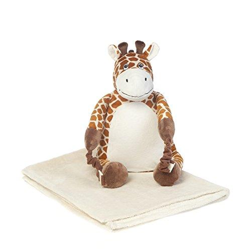 VITAL INNOVATION Sac à dos 3 en 1 , avec oreiller et couverture Girafe Beige