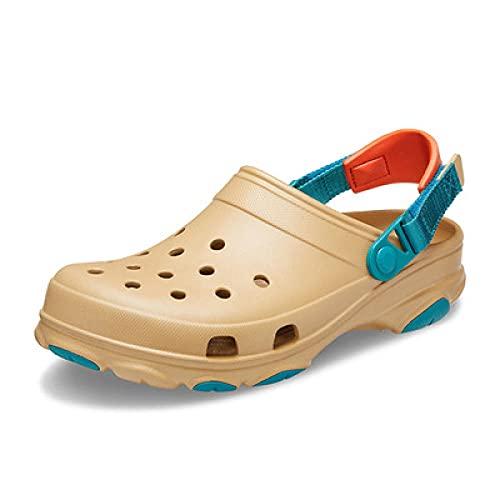 MLLM Den Swimmingpool Hausschuhe,Magische Aufkleber können die Strandschuhe anpassen, elastische große Sandalen-Card_45-46,Paar Haushalt Slipper Bad Sandalen
