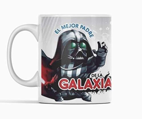 Taza Darth Vader Stars wars. El mejor padre de la galaxia. Mandalorian