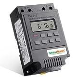 KINGDUO 220V 110V 12V 30AMP TM616 Control Load 7 Days Programmable Digital TIME SWITCH Relay Timer Control - 100-120V