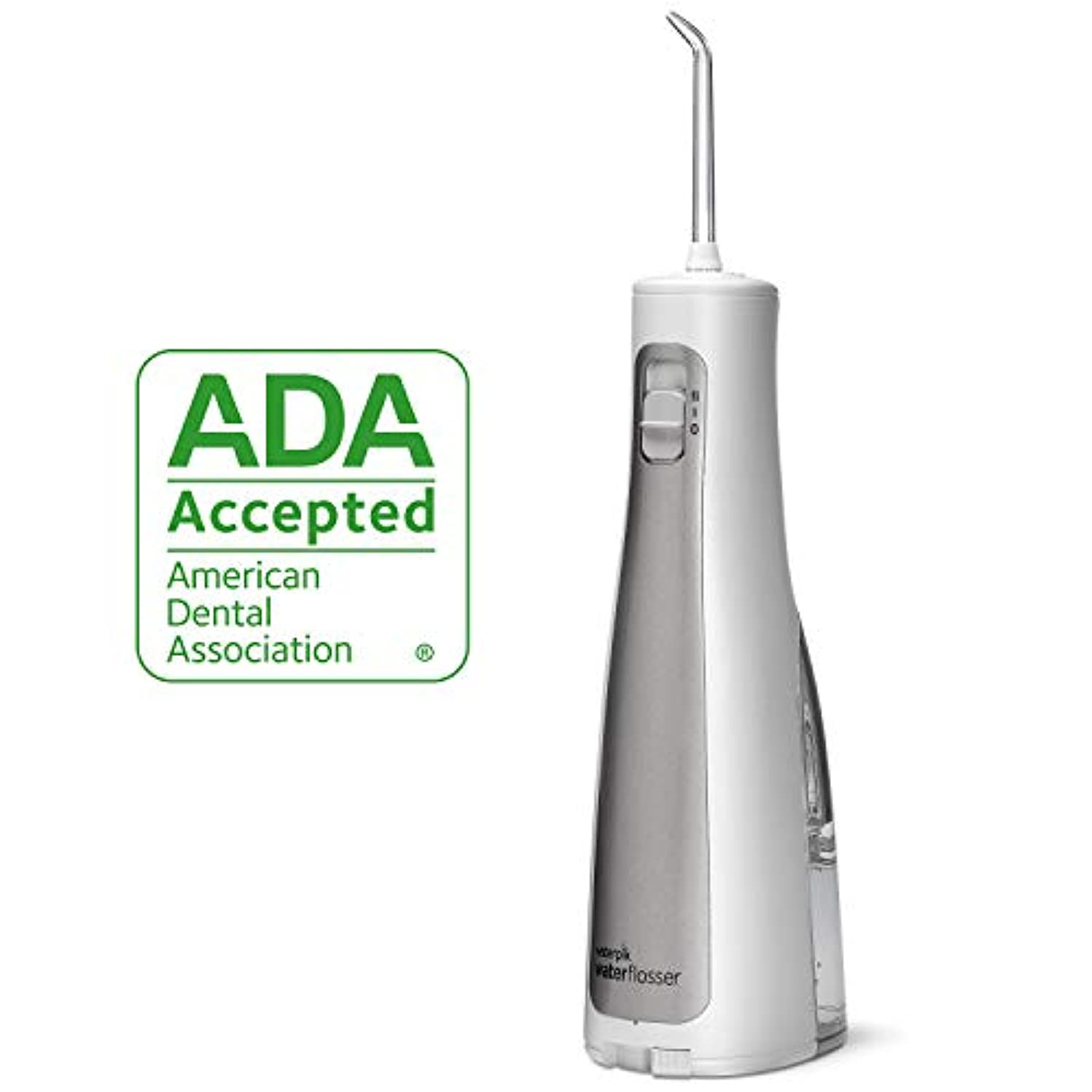 Cordless Water Flosser, Waterpik Cordless Freedom ADA Accepted Oral Irrigator, Battery Operated and Portable for Travel and Home, Waterproof with Travel Bag and 3 Jet Tips, WF-03