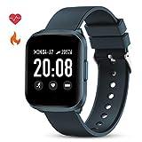 GOKOO Smartwatch Damen Herren Fitness Armbanduhr Touchscreen mit Pulsmesser IP68