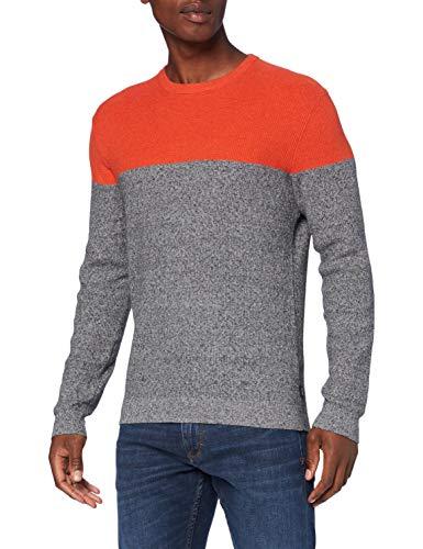 ESPRIT 080ee2i303 Maglione, Arancione (812 / Arancio RUGGINE 3), XS Uomo