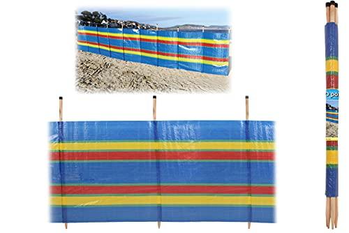 KandyToys Nalu 8 Pole Windbreaker - Printed Windbreak for Beach, Outdoor, Camping, Garden