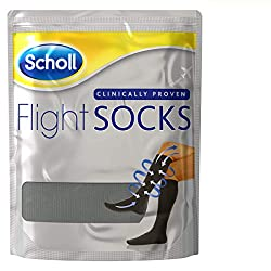 Scholl Flight Socks 1 Pair Shoe, Black