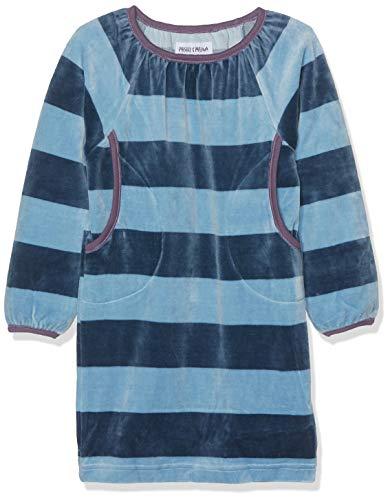 Phister & Philina Mädchen Sidsel Velour Kleid, Mehrfarbig (Proonet Blue Pro), 116