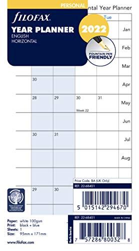 Filofax – Personal Year Planner Horizontal 2022 22-68401