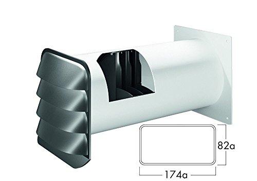 NABER E-Jal Col® flow 125 Mauerkasten THERMOBOX/Wärmerückhaltesystem/Edelstahl / Ø125mm (4033044)