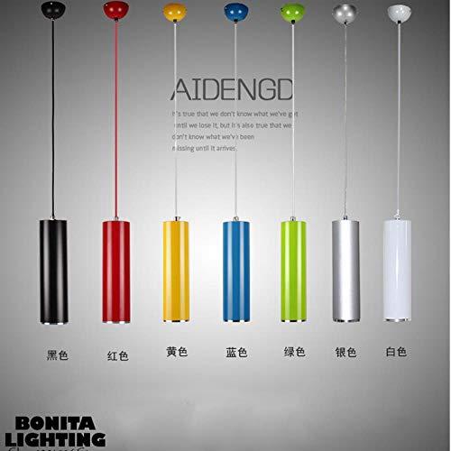 5151BuyWorld Lamp van aluminium, meerkleurig, lange cilinder, hanglamp, voor eetkamer, rond, moderne buizen, LED-lamp, hanger, lange buizen, hoogwaardige kwaliteit