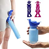 WIKEA Mini Urinal für sie und ihn - Tragbare Notfall-Urinflasche, schrumpfbar und wiederverwendbar, Urinbehälter