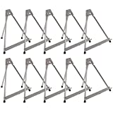 U.S. Art Supply 15' High Aluminum Tabletop Display Easel (Pack of 10) - Collapsible Folding Frame, Portable Artist Tripod Stand - Holds Canvas, Paintings, Books, Presentations, Photos, Pictures, Signs