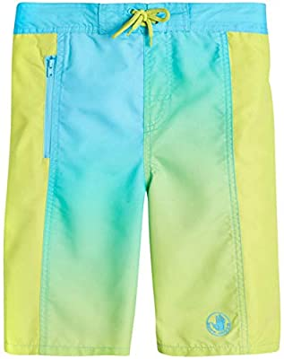 Body Glove Boys' Quick-Dry Board Shorts Bathing Suit, Teal/Green, Size 14/16