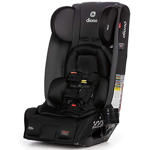 Diono Radian 3RXT, 4-in-1 Convertible Extended Rear and Forward Facing Convertible Car Seat, Steel...