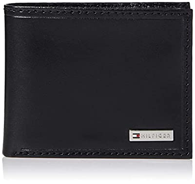 Tommy Hilfiger Leather Men's Wallet RFID Billfold With Coin Pocket