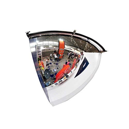 PLLP Obiettivo Grandangolare per Traffico Esterno, Specchietti Ciechi-Bh Specchio Stradale Di Sicurezza Stradale Tornitura Stradale Specchio Convesso Aumenta il Campo Specchio Anti-Ladro,55 Centimetr