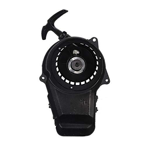 CandyTT Arrancador de 2 Tiempos para Mini Dirt Bike 49cc Pocket Bike ATV Negro para vehículo Accesorio de Coche Arrancador de tracción (Negro)