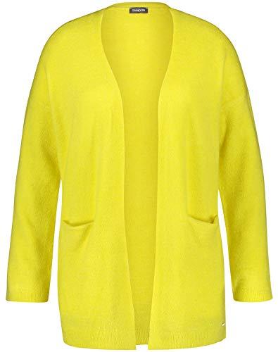 Samoon Damen Langer Strick-Cardigan leger Blazing Yellow 48